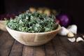 Wooden Bowl of Fresh Kale - PhotoDune Item for Sale