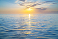 Sun and sea sunset surface background. - PhotoDune Item for Sale
