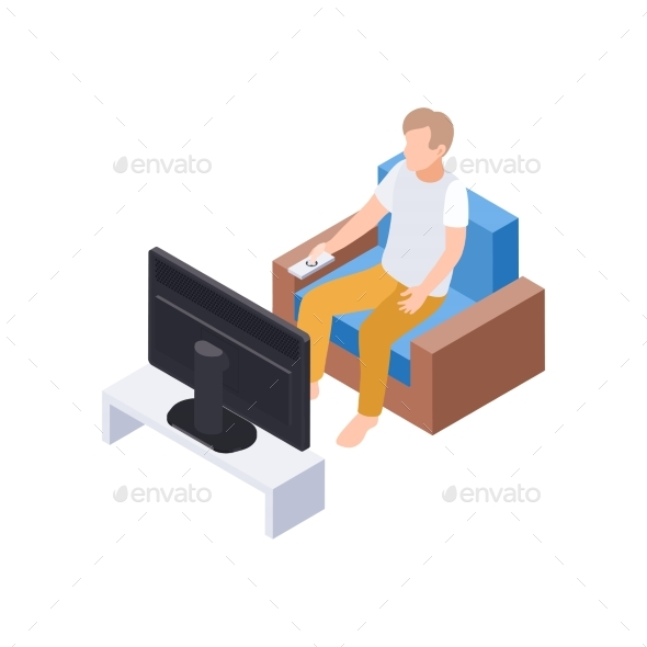 Watching Home TV Composition