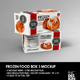 Retail Frozen Long Food Box Packaging Mockup - GraphicRiver Item for Sale