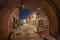 Casale Marittimo old village in Maremma. Picturesque central square. Tuscany, Italy. - PhotoDune Item for Sale