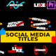 Social Media Titles - VideoHive Item for Sale