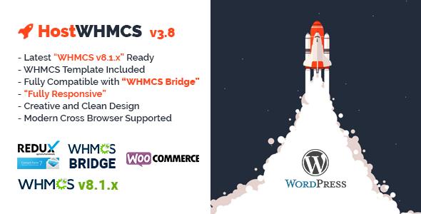 HostWHMCS   Responsive Hosting and WHMCS WordPress Theme, Gobase64