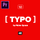 [ Typography ] 1.0 - for Premiere Pro | Essential Graphics - VideoHive Item for Sale