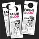 Fashion Door Hanger 6 - GraphicRiver Item for Sale