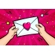 Valentines Day Greeting Card with Hands - GraphicRiver Item for Sale