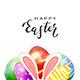 Rabbit Ears with Easter Eggs on White Background - GraphicRiver Item for Sale