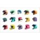 Motor Helmet Racing Uniform with Visor for Head - GraphicRiver Item for Sale
