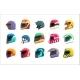 Sport Racing Uniform Helmet with Closed Visor Set - GraphicRiver Item for Sale