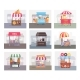 Local Stall Market with Different Food and Drink - GraphicRiver Item for Sale