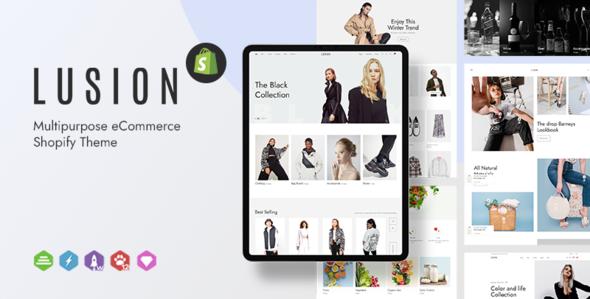Lusion – Multipurpose eCommerce Shopify Theme, Gobase64