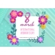 Invitation 8 March International Woman Day Poster - GraphicRiver Item for Sale