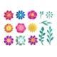 Paper Flower Set Decorative Flourish Ornament - GraphicRiver Item for Sale