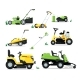Lawn Mover Machine with Engine and Mechanical - GraphicRiver Item for Sale
