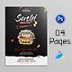 Sushi Restaurant Menu Bi-Fold Brochure - GraphicRiver Item for Sale