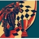 Riders on Sport Motorbike with Cup and Race Flag - GraphicRiver Item for Sale