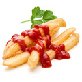 French Fried Potatoes with ketchup isolated on white background - PhotoDune Item for Sale