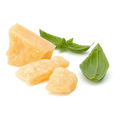 shredded parmesan cheese and basil leaf isolated on white background cutout - PhotoDune Item for Sale