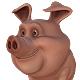 Pig Cartoon - 3DOcean Item for Sale