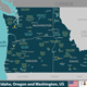 Idaho, Oregon and Washington, United States - GraphicRiver Item for Sale