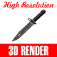 Military Knife - GraphicRiver Item for Sale
