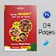 Restaurant Menu Bi-Fold Brochure - GraphicRiver Item for Sale