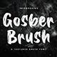 Gosber Brush Font - GraphicRiver Item for Sale