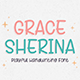 Grace Sherina - Fun Handwriting Font - GraphicRiver Item for Sale