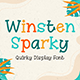 Winsten Sparky - Playful Display Font - GraphicRiver Item for Sale
