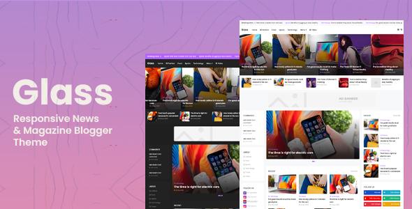 Glass – Responsive News & Magazine Blogger Theme, Gobase64