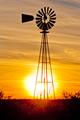 Texas wind pump sunset - PhotoDune Item for Sale