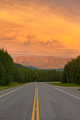 Liard River valley Alaska Highway BC Canada sunset - PhotoDune Item for Sale