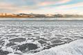 Ice floes at shore of Lake Laberge Yukon Canada - PhotoDune Item for Sale