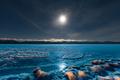 Full moon over frozen Lake Laberge Yukon Canada - PhotoDune Item for Sale