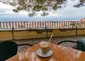Cafe at viewpoint over Lisbon Portugal Europe - PhotoDune Item for Sale