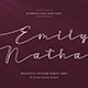 Emily Nathan - Modern Script Font - GraphicRiver Item for Sale