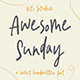 Awesome Sunday - Sweet Handwritten Font - GraphicRiver Item for Sale