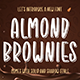 Almond Brownies - Shadow Display Font - GraphicRiver Item for Sale