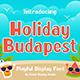 Holiday Budapest - Fun Display Font - GraphicRiver Item for Sale