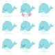 Baby Narwhal Unicorn Vector Cartoon Character Set. - GraphicRiver Item for Sale
