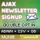 Ajax Newsletter Signup - PHP Admin & CSV export - CodeCanyon Item for Sale