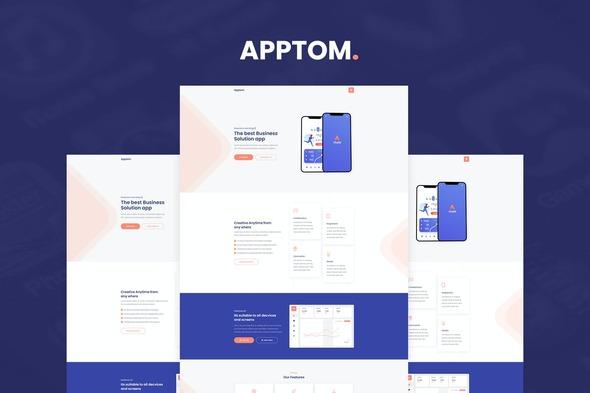 Apptom - App & Software Showcase Elementor Template Kit