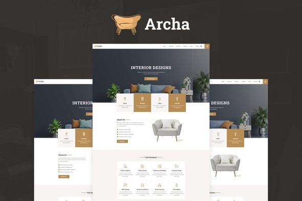Archa - Interior Design & Architecture Elementor Template Kit