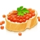 Sandwich with Salmon Caviar. Delicacy Fish Food. Vector. - GraphicRiver Item for Sale