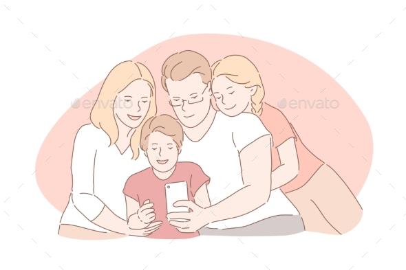 Family Bonding Happy Childhood Parenthood