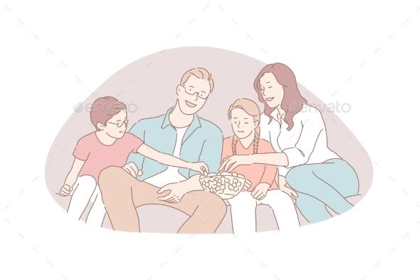 Family Recreation Movie Night Traditional Values