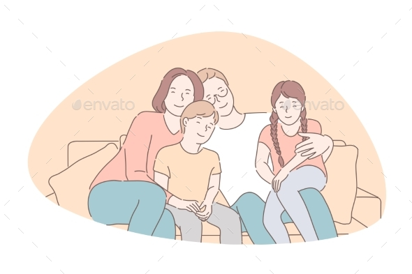Traditional Values Bonding Family Idyll Concept
