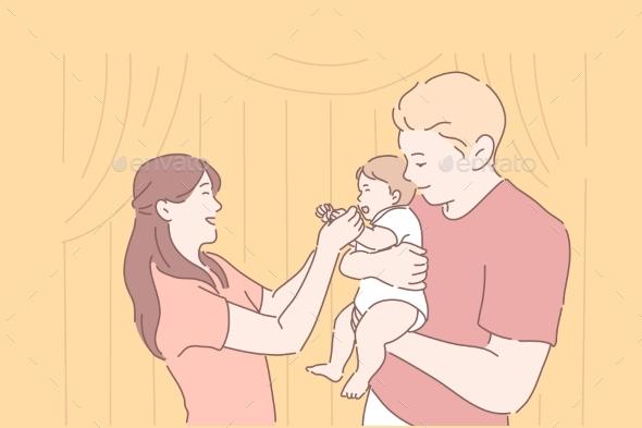 Family Parenthood Childhood Together Concept