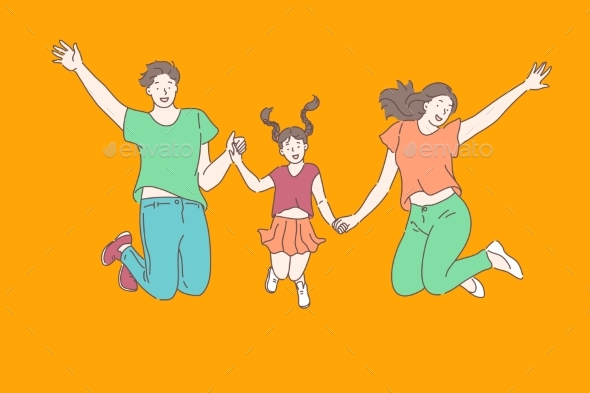 Family Relationships Leisure Concept
