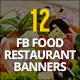 12 Facebook Food Restaurant Banners - GraphicRiver Item for Sale